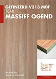 Flyer Teak druk - Van Laere Hout