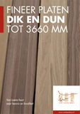 Lange fineer platen dik en dun - Van Laere Hout