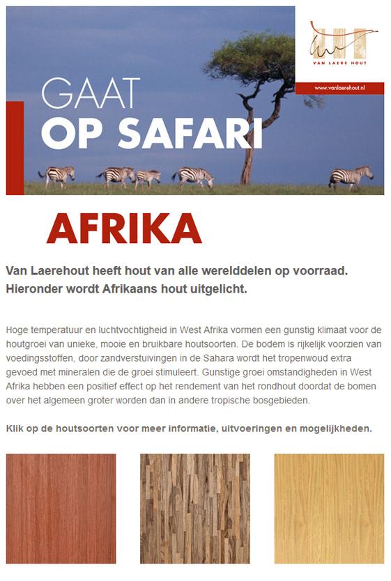 Van Laere Hout gaat op safari - afrika