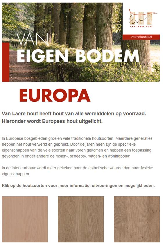 Van Laere Hout van eigen bodem - Europa