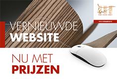 Vernieuwde website mailing papier - Van Laere Hout